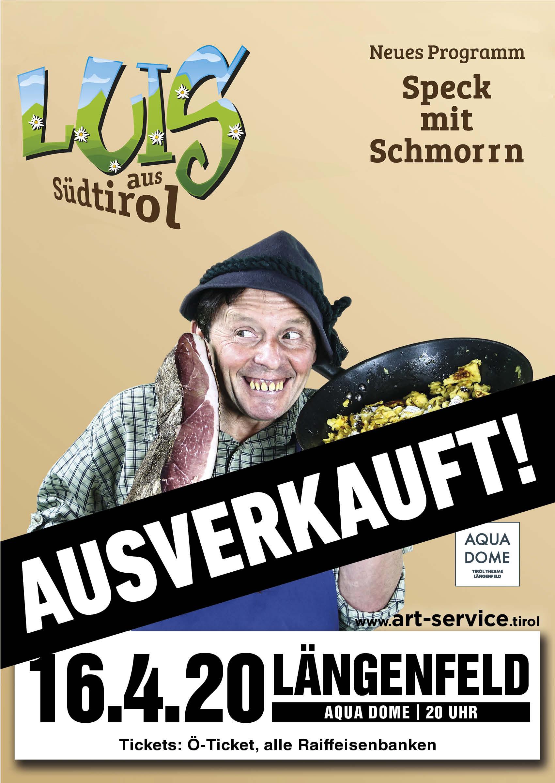 Luis aus Südtirol Längenfeld Plakat ausverkauft
