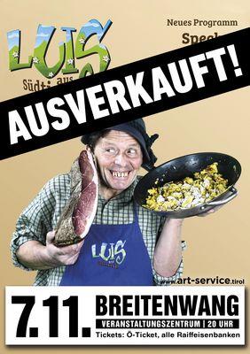 Luis aus Südtirol Speck mit Schmorrn Plakat
