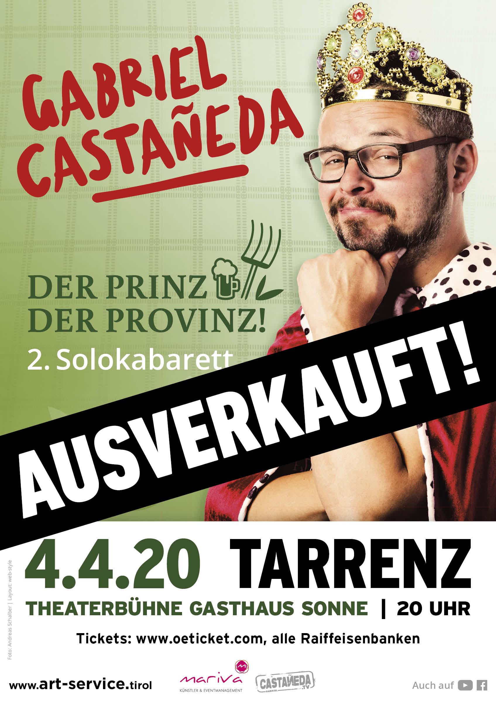 Gabriel Castaneda in Tarrenz Plakat ausverkauft